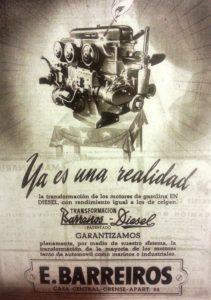 Anuncio el 1 de noviembre de 1951 de la transformación de motores