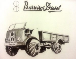 Dibujo del prototipo de camión militar en la versión que finalmente se fabricó.